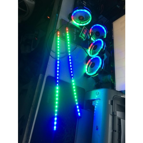 Combo 1 dây LED +5 Fan Coolmon + 1 Hup