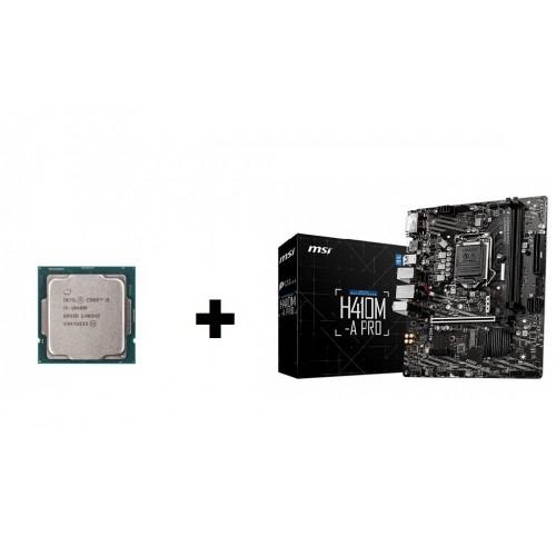 Combo CPU Intel I5 10400F tray new + Main MSI H410M-A PRO