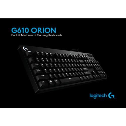 Bàn phím cơ Logitech G610 Orion Blue Backlit (Blue switch)