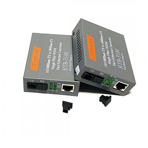 Bộ chuyển đổi quang điện 10/100M Single Fiber (HTB-3100/AB - 2 Converter, 2 Adapter)