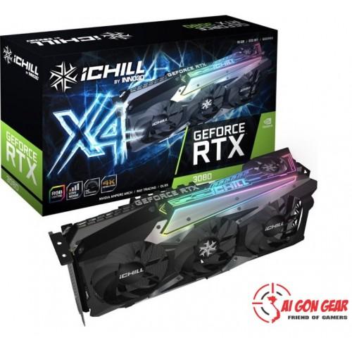 Card màn hình máy tính khủng : Inno3D RTX 3070 ICHILL X4 (8GB GDDR6, 256-bit, HDMI+DP, 2x8-pin)(Chính hãng)