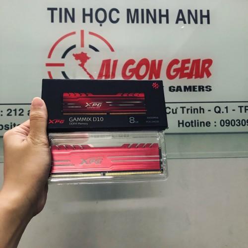 RAM Máy Tính ADATA DDR4 XPG GAMMIX D10 8GB 3000/3200 RED
