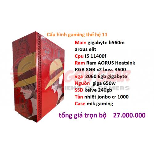 PC GAMING THẾ HỆ 11 - I5 11400F new 2