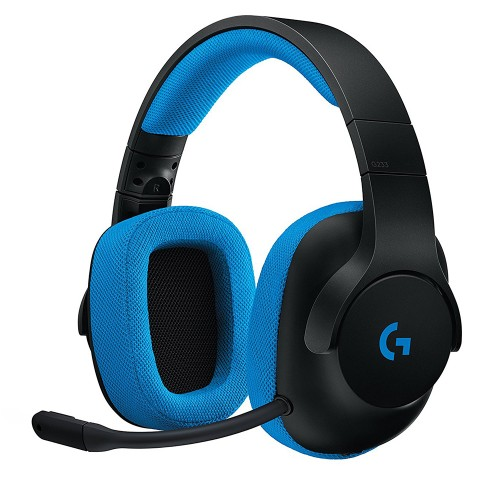 Tai nghe Over-ear Logitech G233 Prodigy Wired Gaming (Đen)