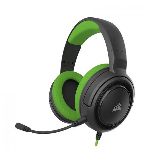 Tai nghe Corsair HS35 Stereo Green Drivers 50mm - không kèm jack chia Y