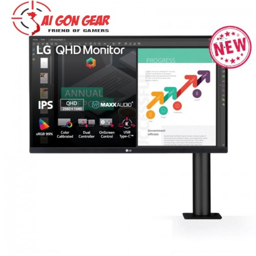 Màn hình LG 27QN880-B (27 inch/2K/IPS/75Hz/5ms/350nits/HDMI+DP+TypeC)