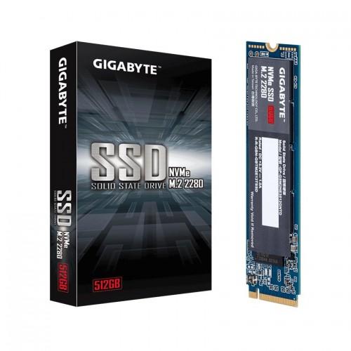 Ổ cứng SSD Gigabyte 512GB M.2 2280 PCIe NVMe Gen 3x4 (Đoc 1700MB/s, Ghi 1550MB/s) - (GP-GSM2NE3512GNTD)