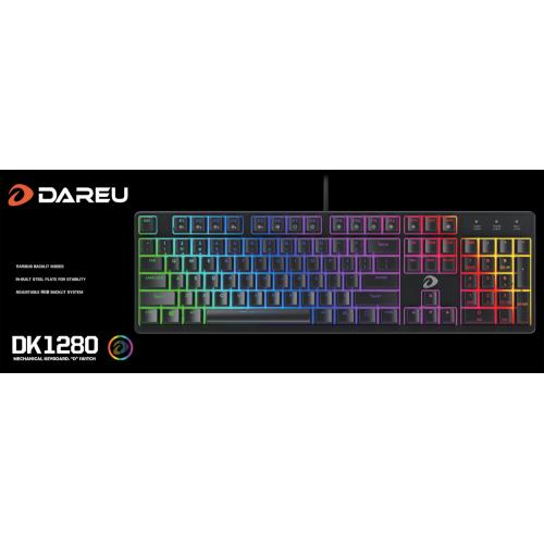 Bàn phím cơ Gaming DAREU DK1280 104KEY RGB