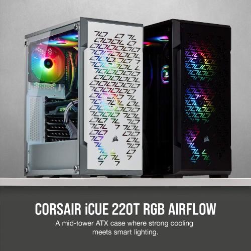 Case Corsair iCUE 220T Airflow Black / White