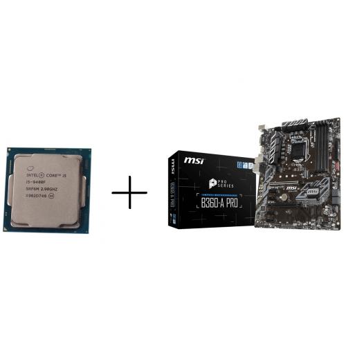 Combo CPU I5 9400F tray + Main MSI B360-A PRO