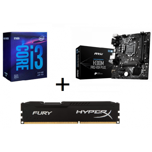 Combo CPU I3 9100F + Main H310M Pro-Vdh Plus + Ram HyperX 8GB Bus 2666