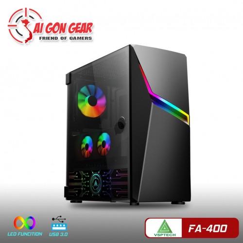 Vỏ Thùng Case VSP FA 400 Có Sẵn 01 FAN Led RGB/ LED Cover Nguồn