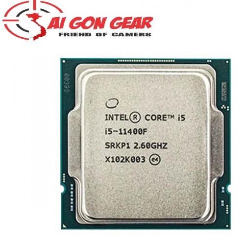 CPU INTEL CORE I5-11400F (6 NHÂN 12 LUỒNG   UP TO 4.4GHZ   12M CACHE   65W) TRAY NEW