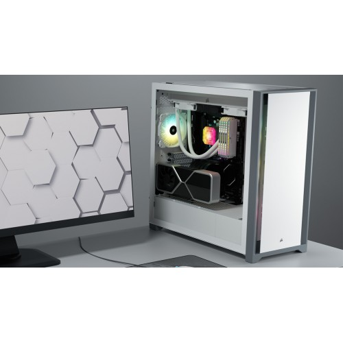 Vỏ máy tính Corsair 5000D TG Black / White