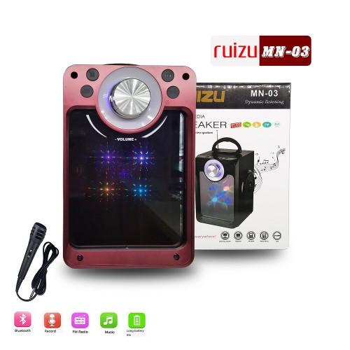 Loa Bluetooth Ruizu MN-03 Kèm 01 Mic karaoke
