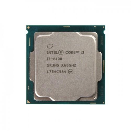 CPU Intel Core I3 8100 Tray new không fan bh 36th