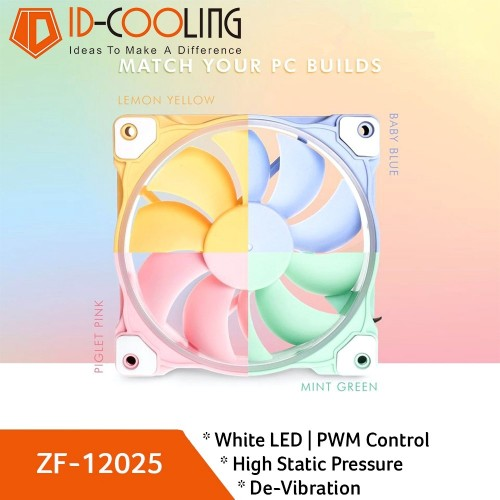 Fan Case ID COOLING ZF-12025 Pastel