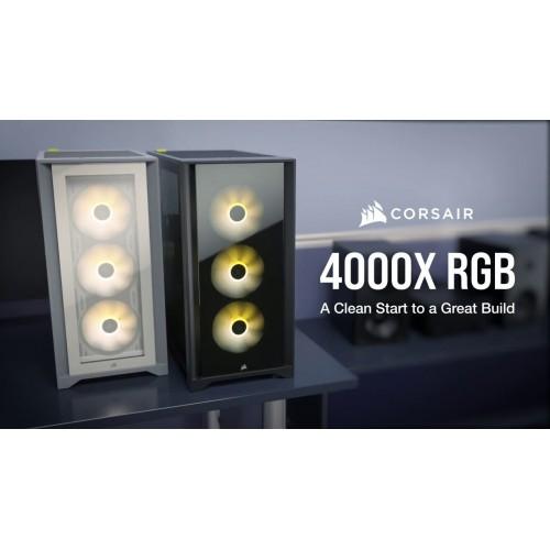 Case Corsair iCUE 4000X RGB TG Black / White