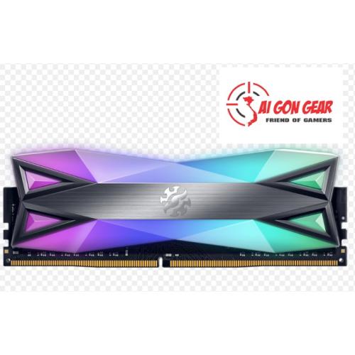 RAM PC ADATA DDR4 XPG SPECTRIX D60-LED 16GB (2*8G) 3600 TUNGSTEN GREY RGB