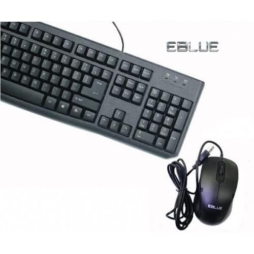 Combo bàn phím + chuột Eblue EKM045BK-EMS645BK
