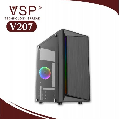 Vỏ Case VSP V207 Có Sẵn Dãy Led RGB ( Chưa Fan )
