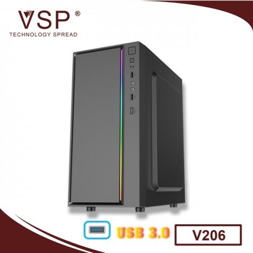 Vỏ Case VSP V206 Có Sẵn Dãy Led RGB ( Chưa Fan )