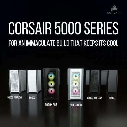 Vỏ máy tính Corsair iCUE 5000X RGB TG Black  / White