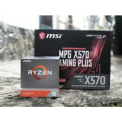 Combo CPU AMD Ryzen 9 3900X + Mainboard X570 Gaming Plus